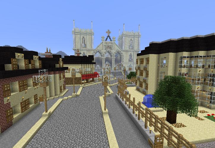 Очень большой и красивый город в стиле