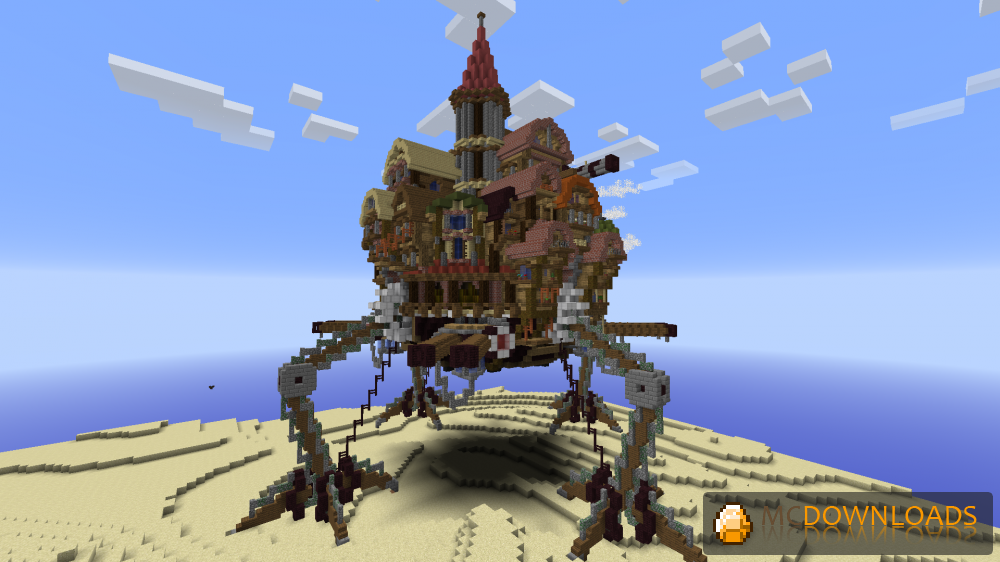 Steampunk Moving city